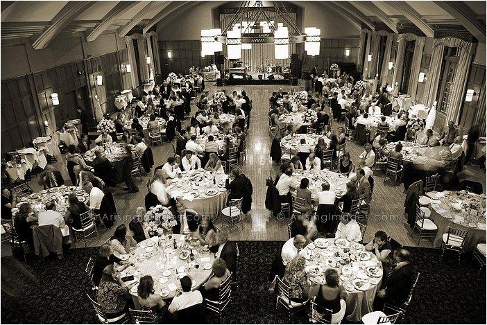 sweet indoor michigan wedding reception photography at michigan league