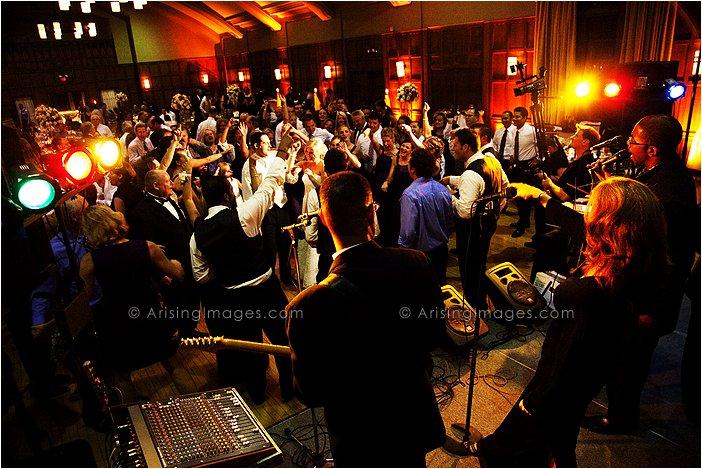 dance floor at michigan league wedding photography