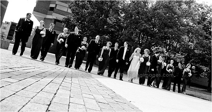 downtown ann arbor, MI wedding party photography