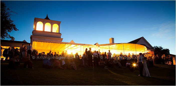 gorgeous night shot of wedding at orchard lake country club, MI
