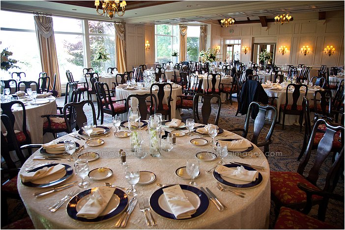 Fine Dining Indoor Michigan Wedding Reception At Orchard Lake Country Club
