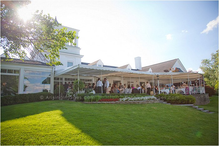 Beautiful Outdoor Michigan Wedding Reception At Orchard Lake Country Club