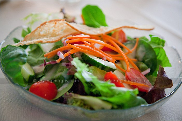 delicious salad served at orchard lake country club, MI wedding