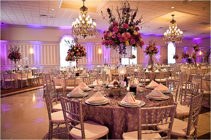 stunning indoor wedding reception at palazzo grande, MI