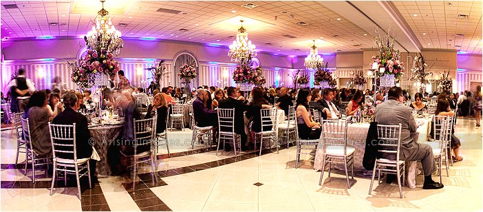 indoor michigan wedding reception at palazzo grande