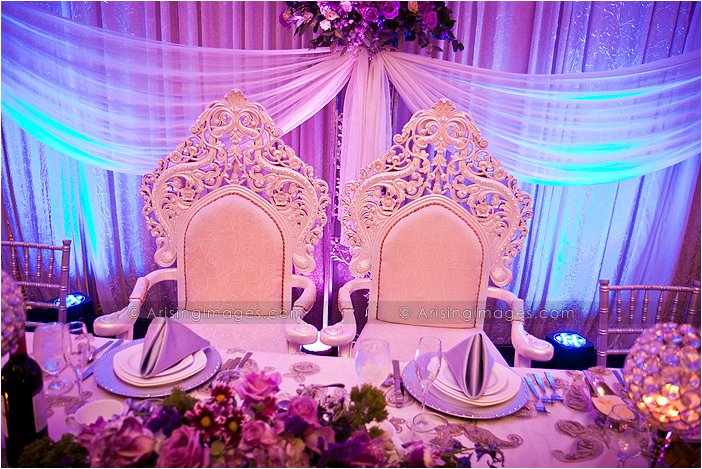 Bride And Groom Chairs Indoor Michigan Wedding Reception At Palazzo Grande