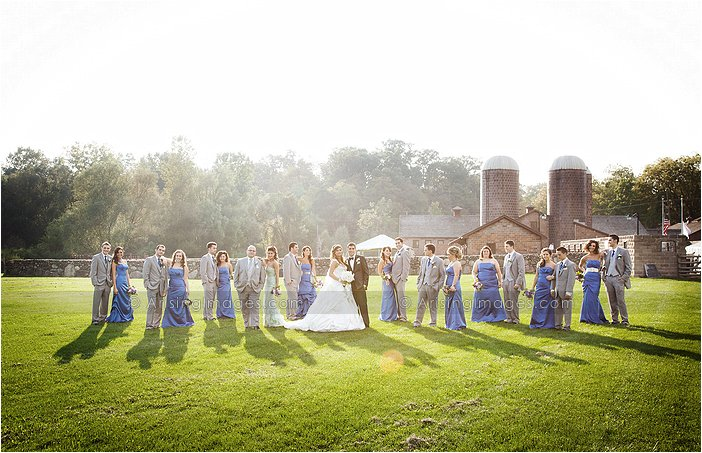 stunning michigan wedding party pictures at van hoosen farms