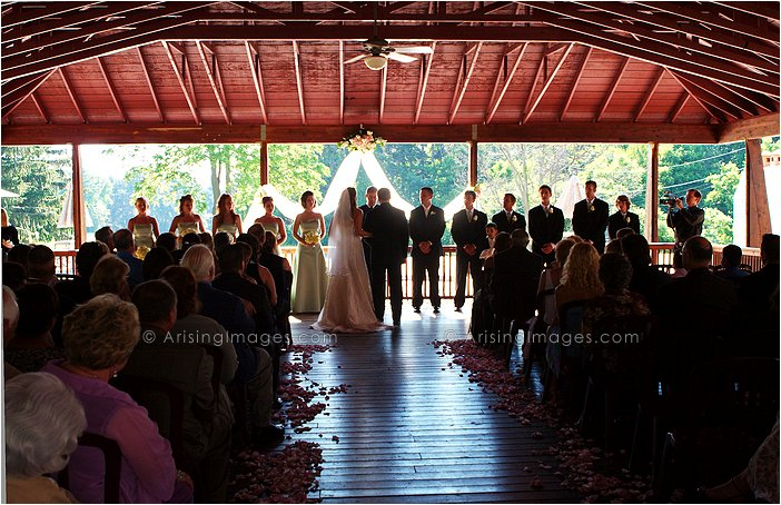 pine knob carriage house wedding ceremony photography