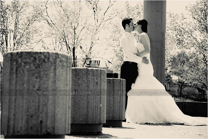 stunning wedding photography in downtown detroit