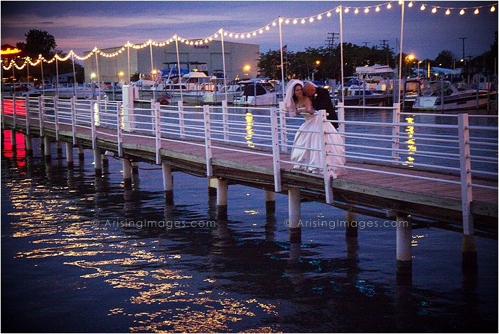 intimate wedding photography at roostertail in detroit, MI