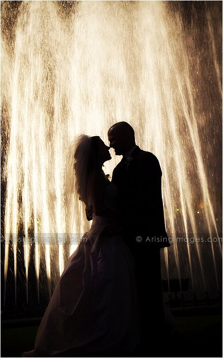 artistic wedding photographer for roostertail detroit, mi
