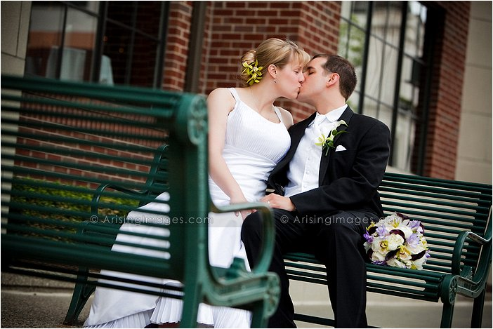 creative wedding photography in downtown birmingham, Mi