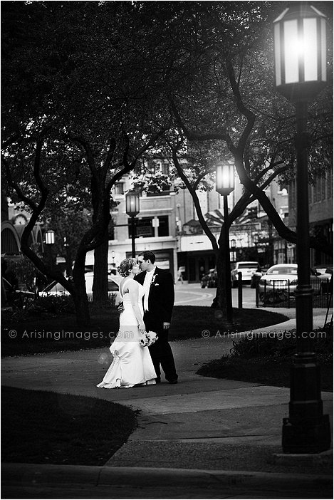 intimate wedding photography in downtown birmingham, Mi