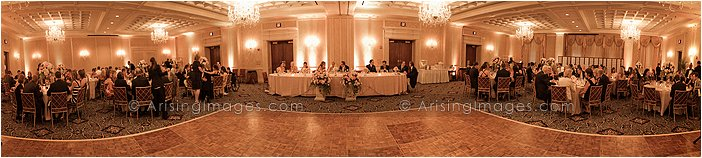 indoor wedding reception photography at townsend hotel, MI