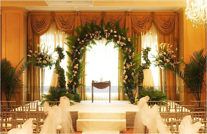 beautiful indoor michigan wedding ceremony photography