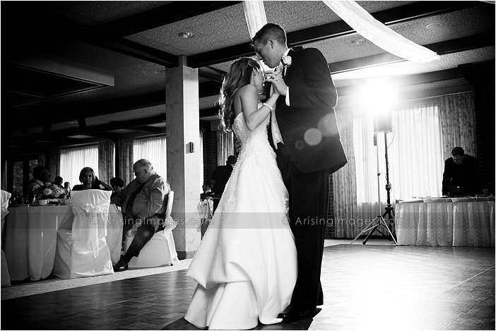wedding dance floor photography at university club of michigan state