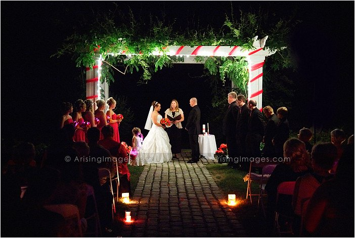 gorgeous wedding ceremony photography at wellers' carriage house