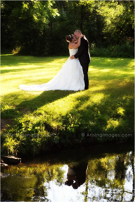 artistic outdoor michigan wedding ceremony photography