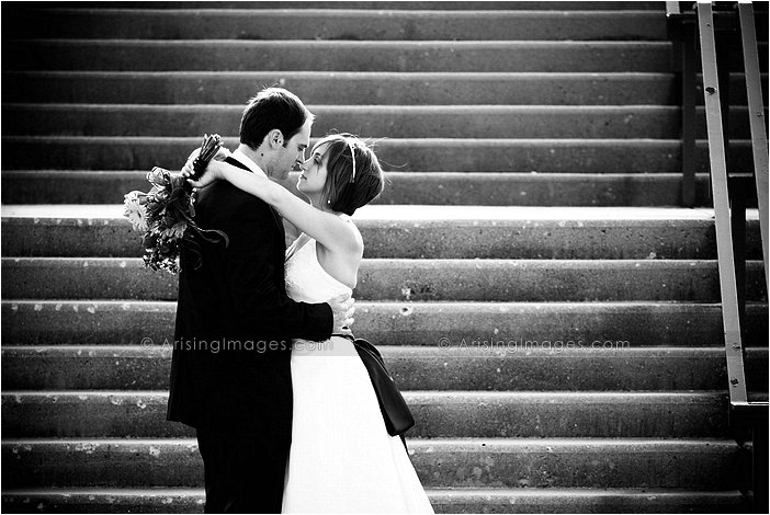 outdoor michigan wedding photography at southfield civic center