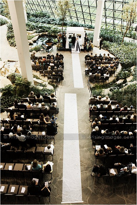 wedding ceremony photography at westin southfield atrium