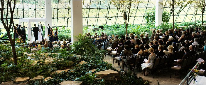 westin southfield atrium wedding ceremony photography