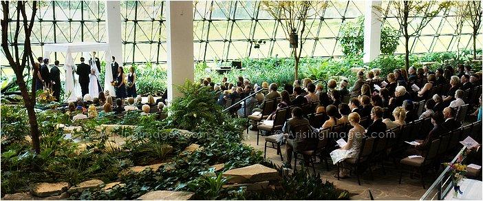 westin southfield atrium wedding ceremony photography