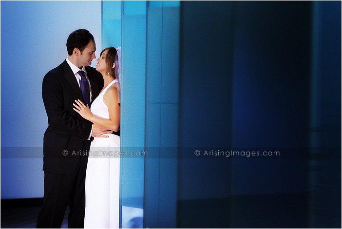 edgy wedding photographer at westin southfield atrium