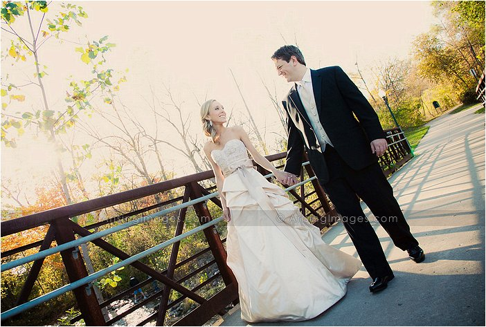 beautiful wedding photography in downtown rochester, mi