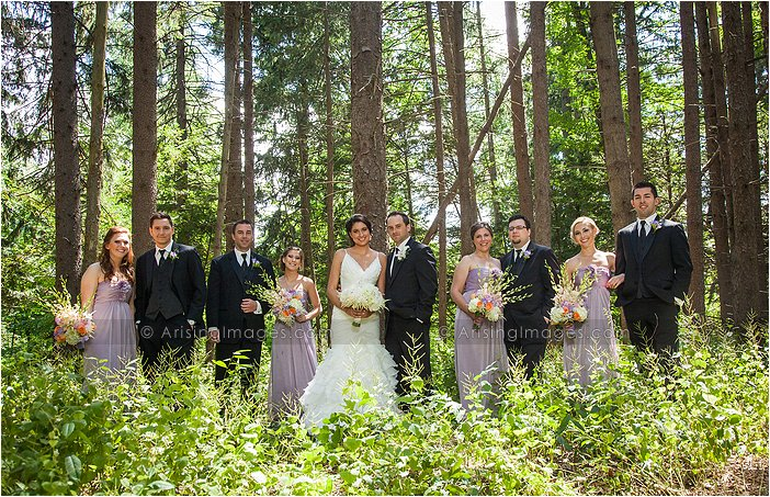 outdoor michigan wedding ceremony photography