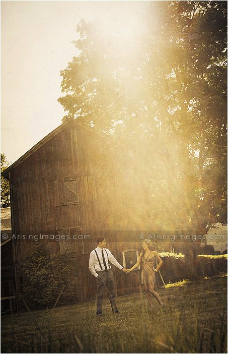 artistic photography for 20s themed engagement shoot in michigan