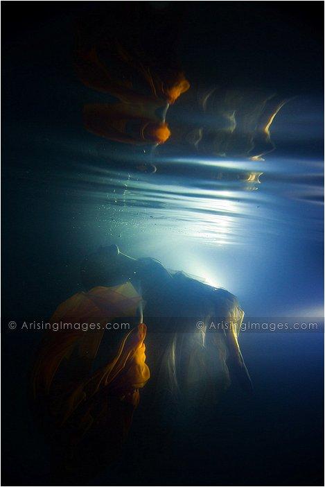 underwater portrait photos in michigan
