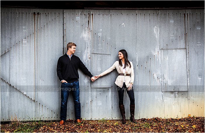 engagement pictures at a farm in michigan