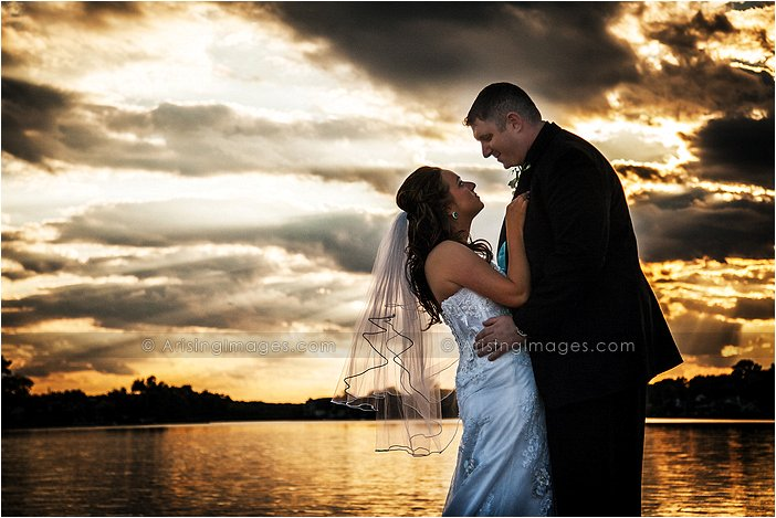 sunset wedding photography by pine lake, mi