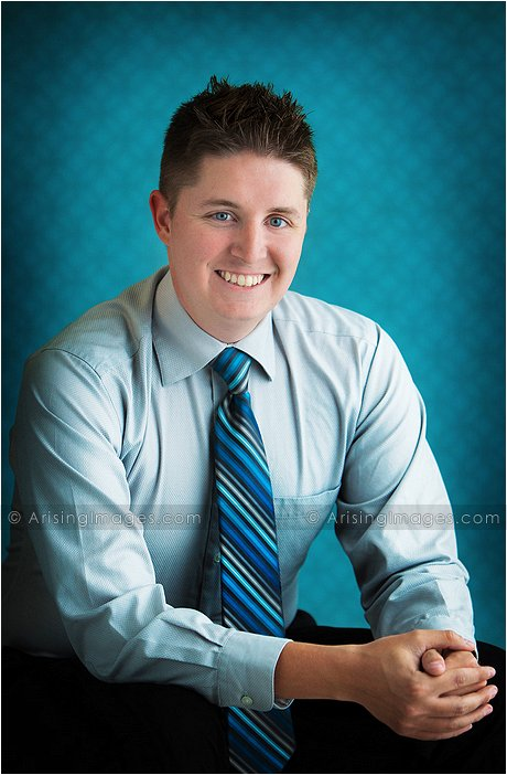 casual business head shot
