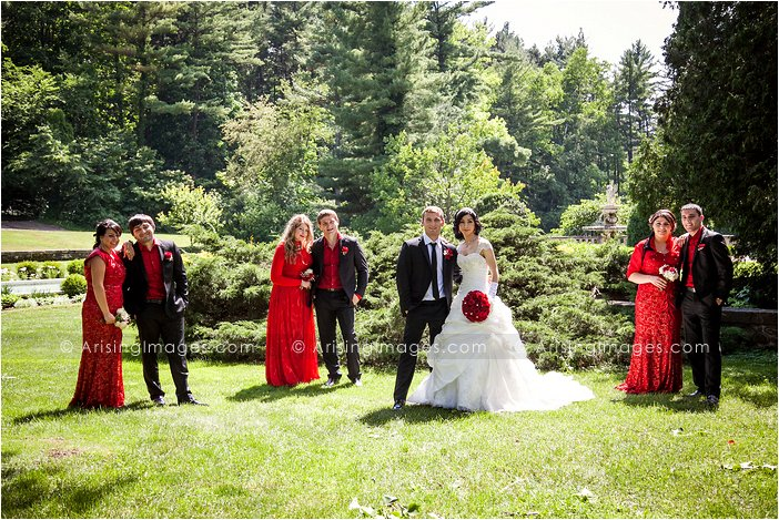 bridal party photos at cranbrook