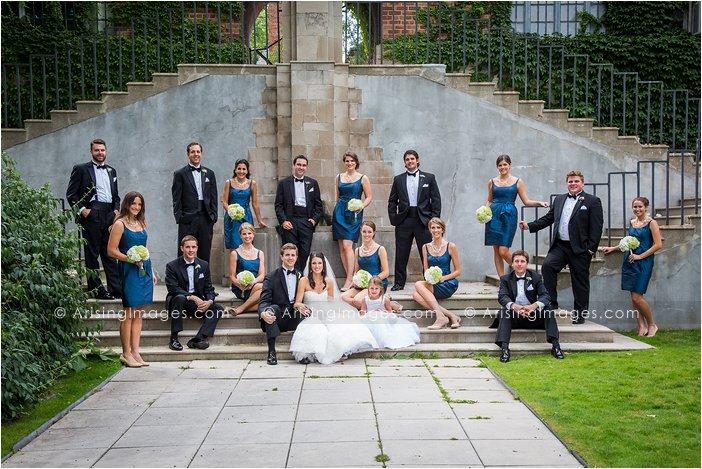 creative michigan wedding bridal party pics