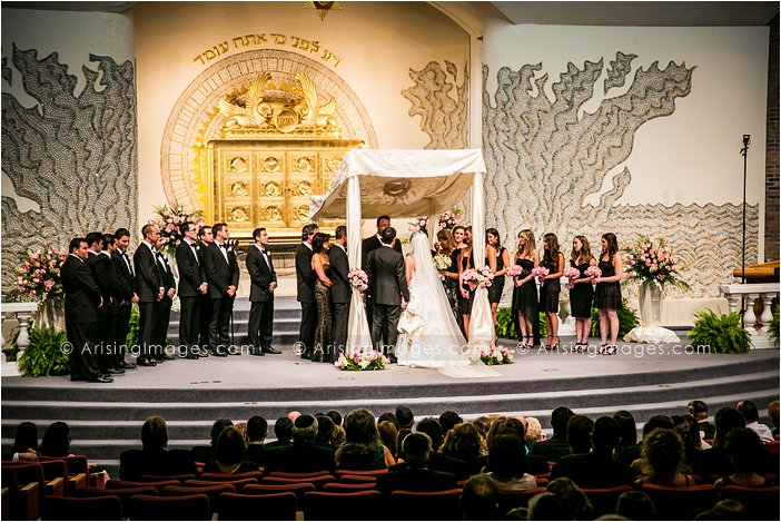 best jewish wedding photography at temple israel