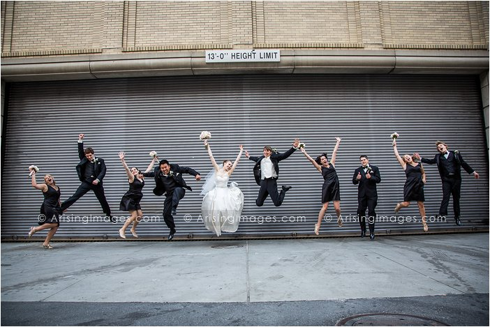 fun bridal party photography in michigan
