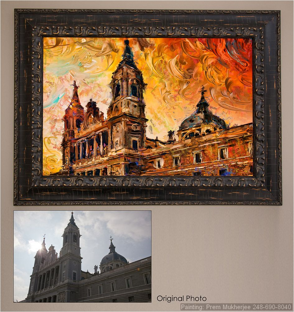 Painting of Madrid Church