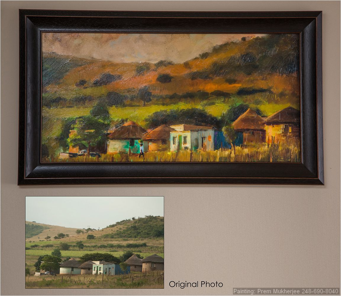 Painting of South Africa Rondovals