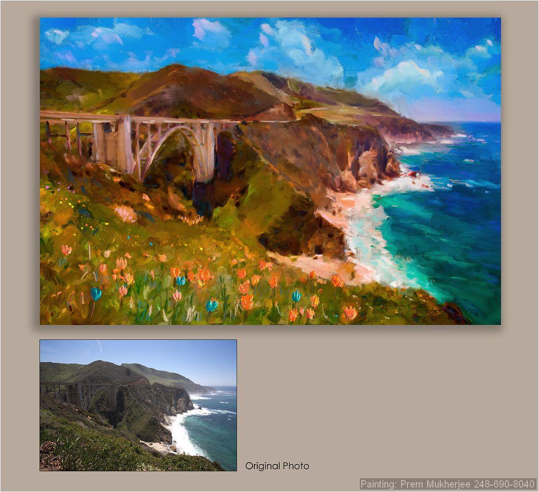 Painting of Big Sur Coast