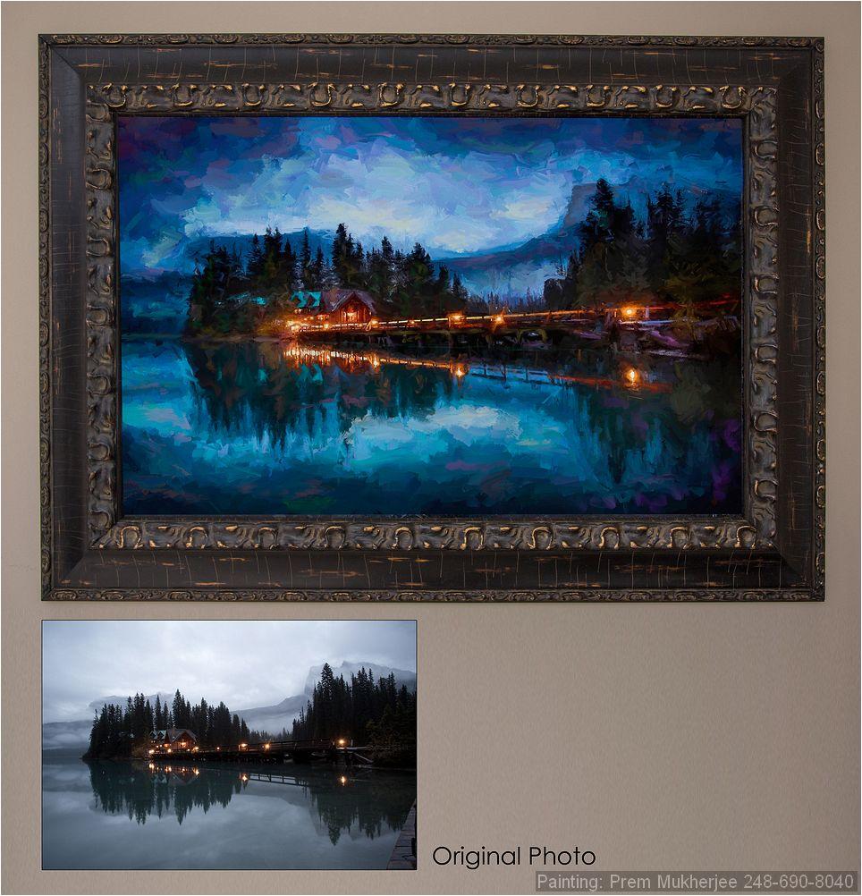 Painting of Emerald Lake, Banff