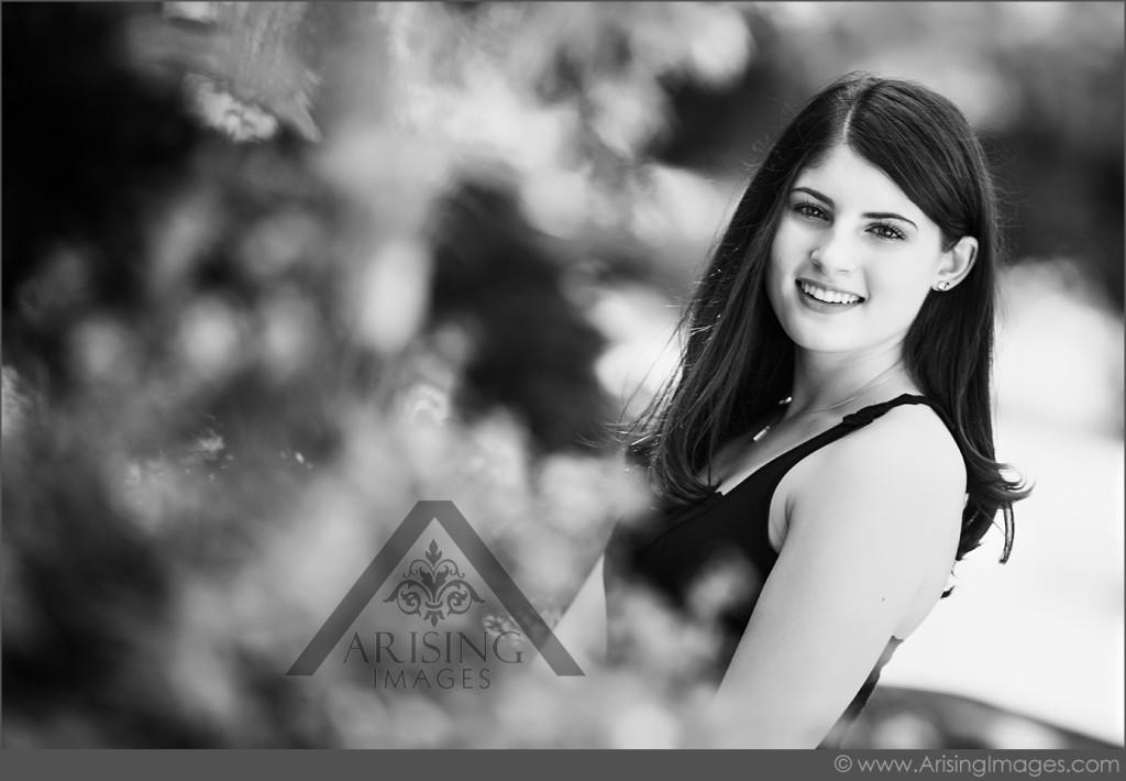 black and white senior photos