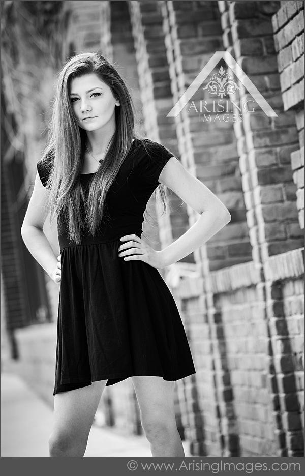 Cool black and white senior photos