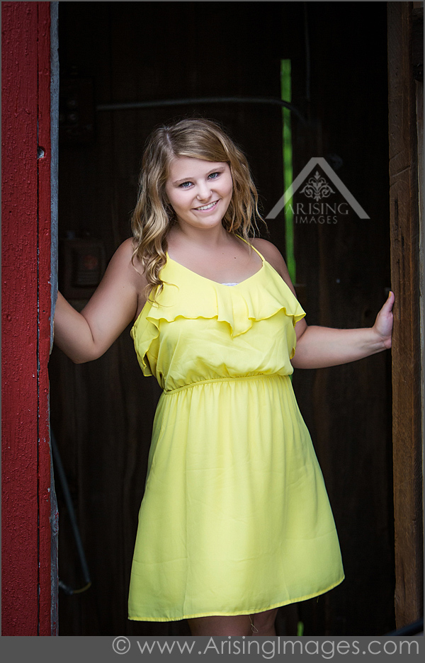 Adorable Barn Senior Photos