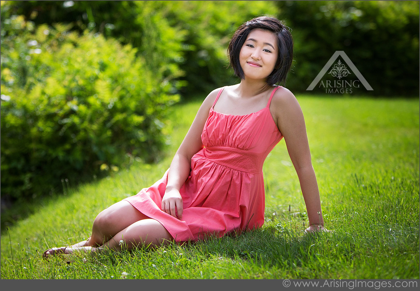 Senior pictures taken in grass