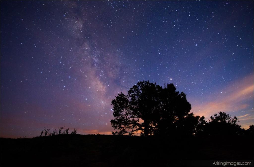 night sky over hunts mesa