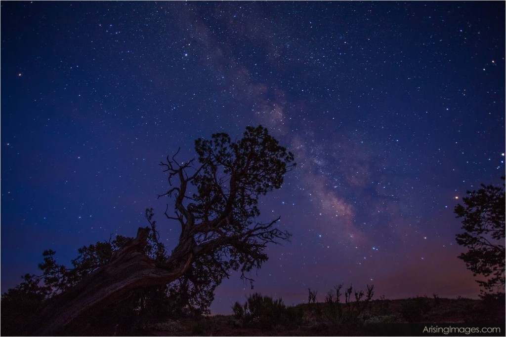 night sky over hunts mesa