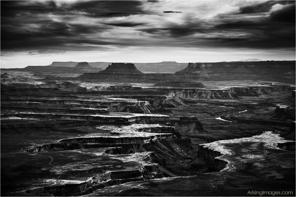 sunset in Canyonlands National Park