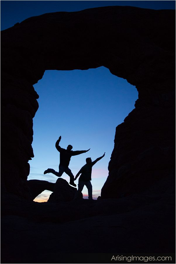 silhouette of turret arch